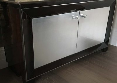 silver fronted cabinet